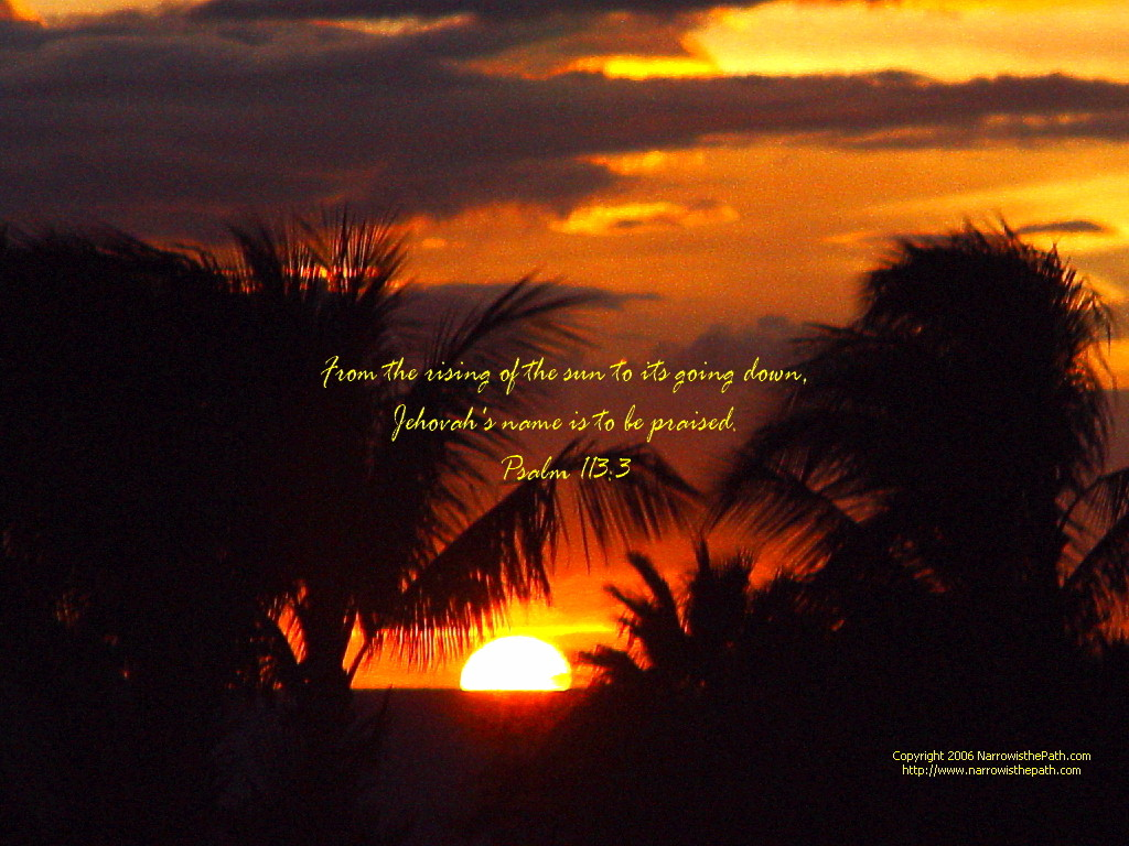 Free Christian Wallpaper Sunset W Psalm 1133