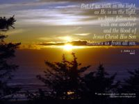 Christian Wallpaper: Walk in the Light